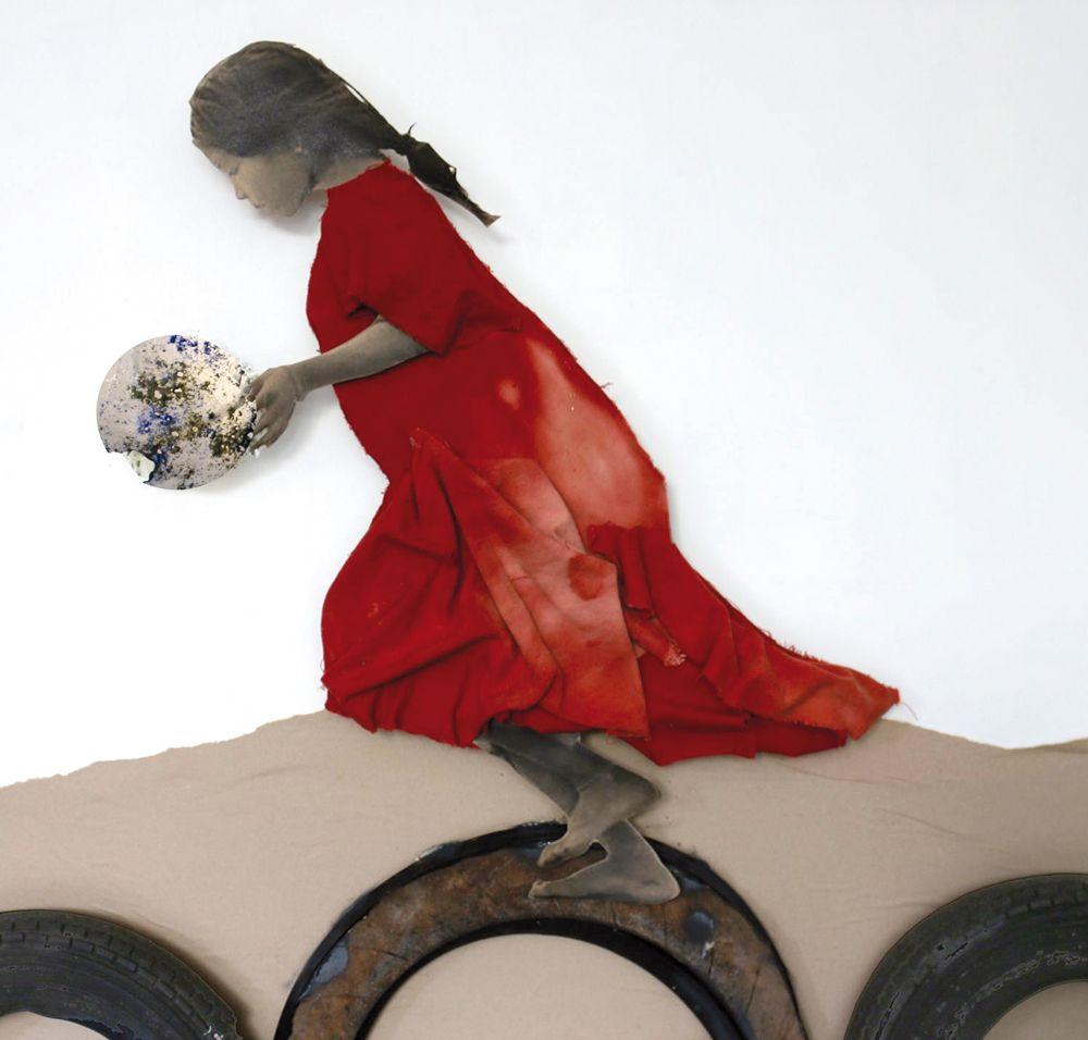 Niña con vestido rojo   dePalo   Art Portfolio